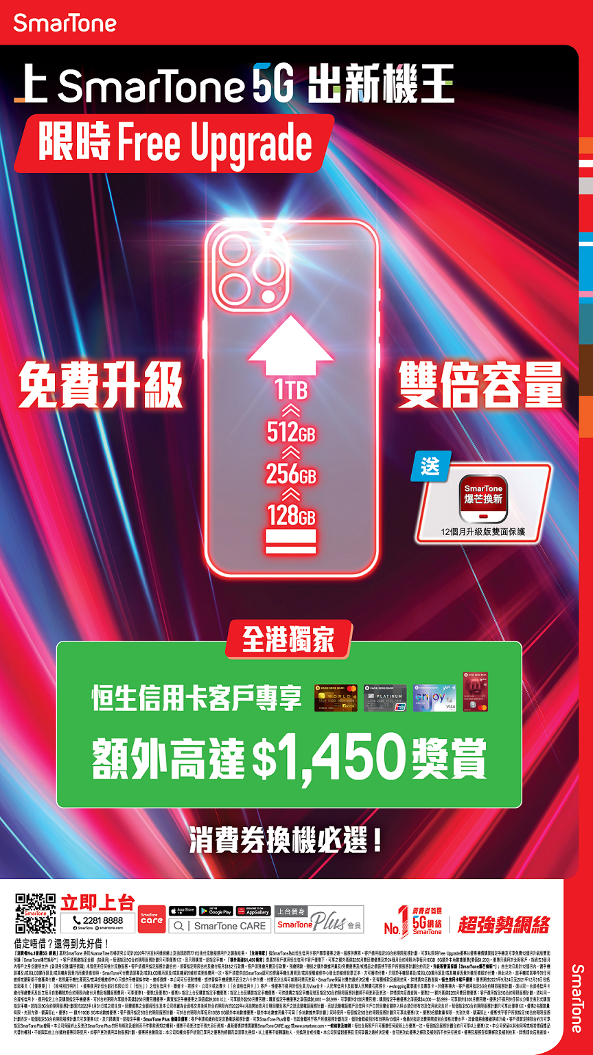 免費升級 iPhone 13 儲存容量!數碼通新 5G 無限上網計劃 低至 $179
